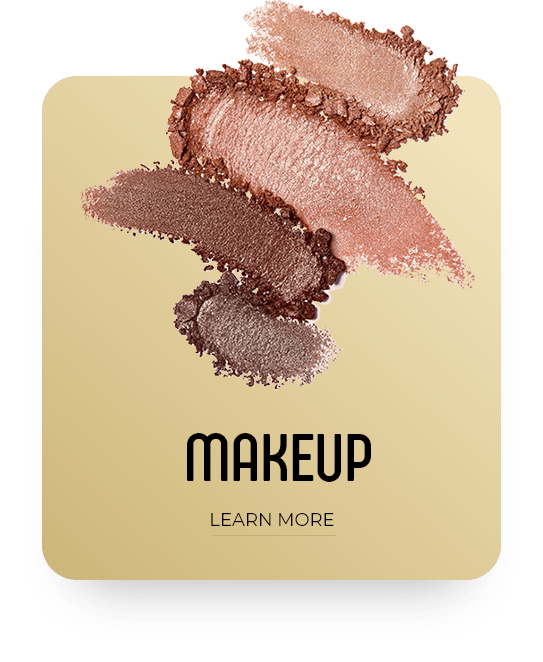 Merle Norman 4 shades of eye shadow, golden and brown tones, gold and white gradient square